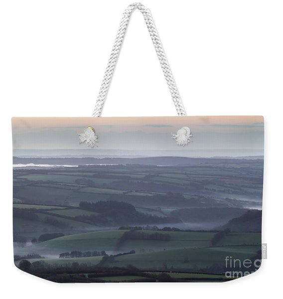 Misty Morning On Exmoor  Weekender Tote Bag