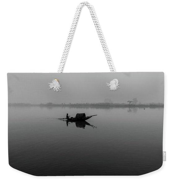 Misty Morning On The Lower Ganges Weekender Tote Bag