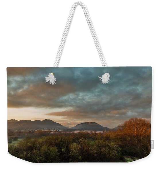 Misty Morning Over The San Diego River Weekender Tote Bag