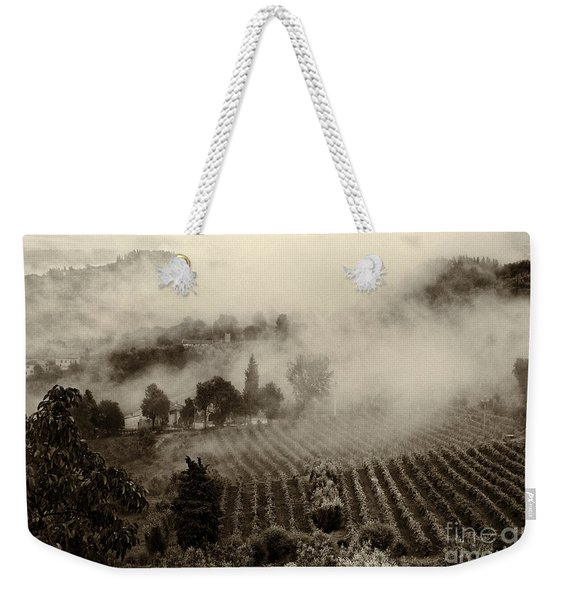 Misty Morning Weekender Tote Bag