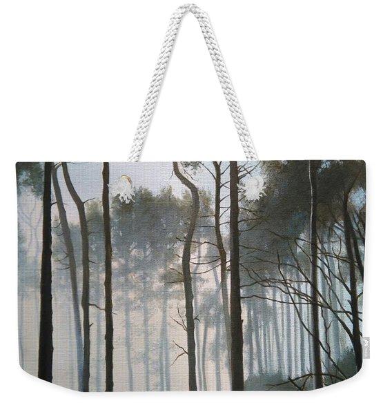 Misty Morning Walk Weekender Tote Bag