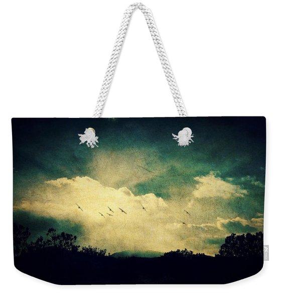 Misty Mountain Flight Weekender Tote Bag