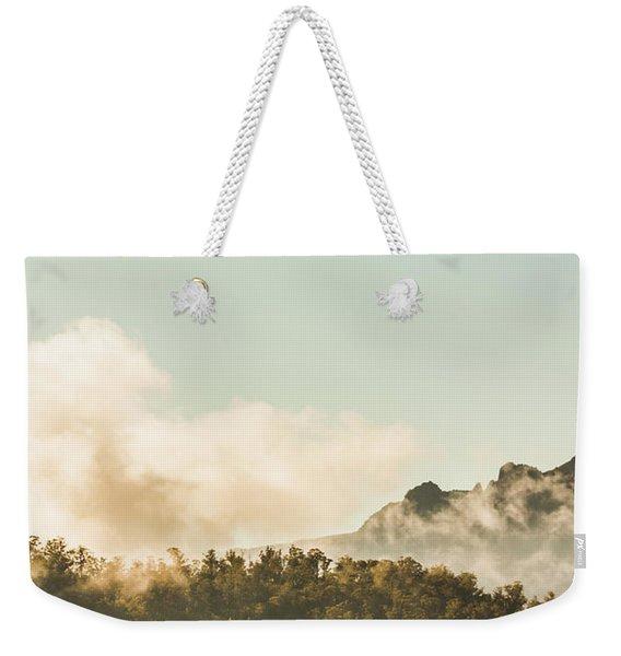 Misty Mountain Peaks Weekender Tote Bag