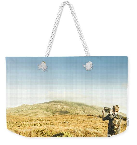 Misty Mountain Travels Weekender Tote Bag
