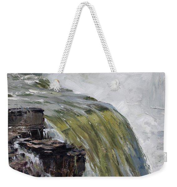 Misty Niagara Falls Ny Weekender Tote Bag