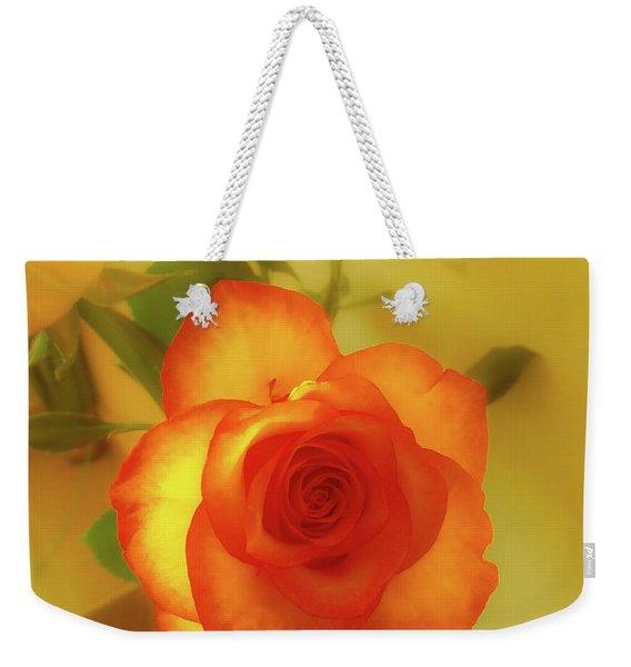 Misty Orange Rose Weekender Tote Bag