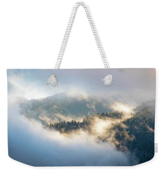 Weekender Tote Bag featuring the photograph Misty Ridge 2 by Michael Hope