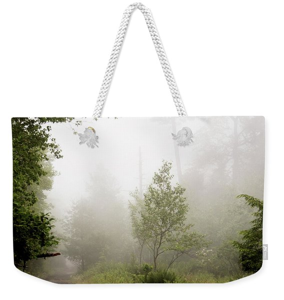Misty Road At Forest Edge, Pocono Mountains, Pennsylvania Weekender Tote Bag