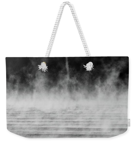 Weekender Tote Bag featuring the photograph Misty Twister by Doug Gibbons