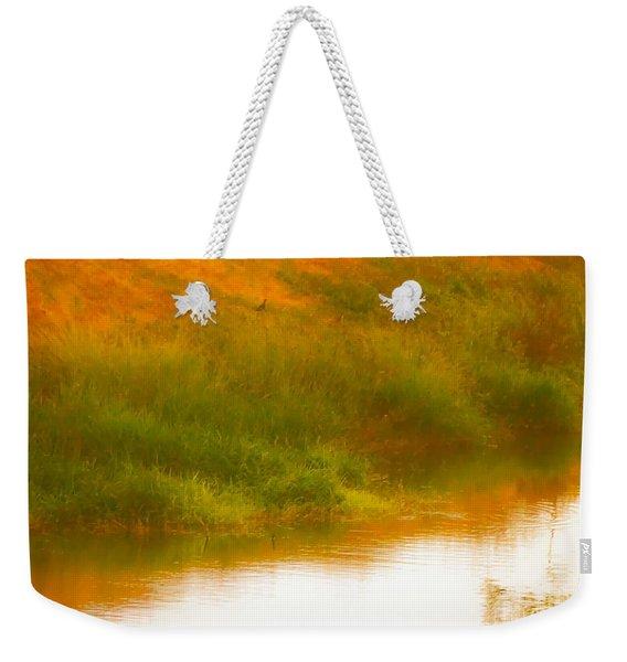 Misty Yellow Hue -lone Jacana Weekender Tote Bag