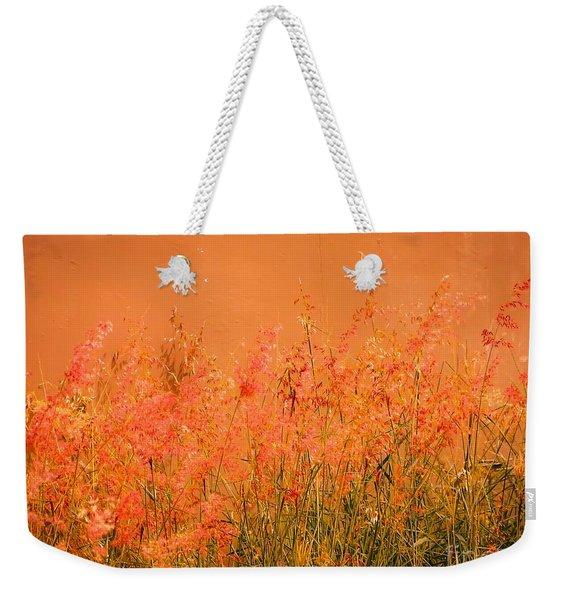 Misty Yellow Hue- Pink Blooms Weekender Tote Bag