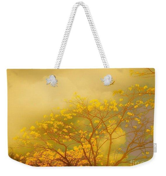 Misty Yellow Hue -poui Weekender Tote Bag