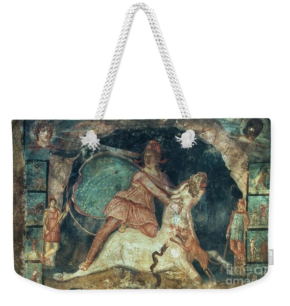 Mithras Killing The Bull - To License For Professional Use Visit Granger.com Weekender Tote Bag