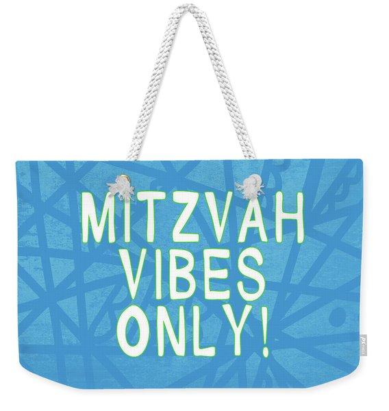 Mitzvah Vibes Only Blue Print- Art By Linda Woods Weekender Tote Bag