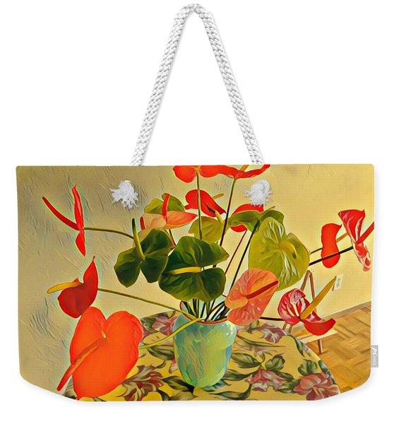 Mixed Aloha Anthuriums Matisse Weekender Tote Bag