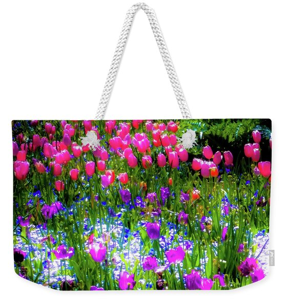 Mixed Flowers And Tulips Weekender Tote Bag