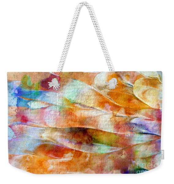 Weekender Tote Bag featuring the painting Mixed Media Abstract  B31015 by Mas Art Studio