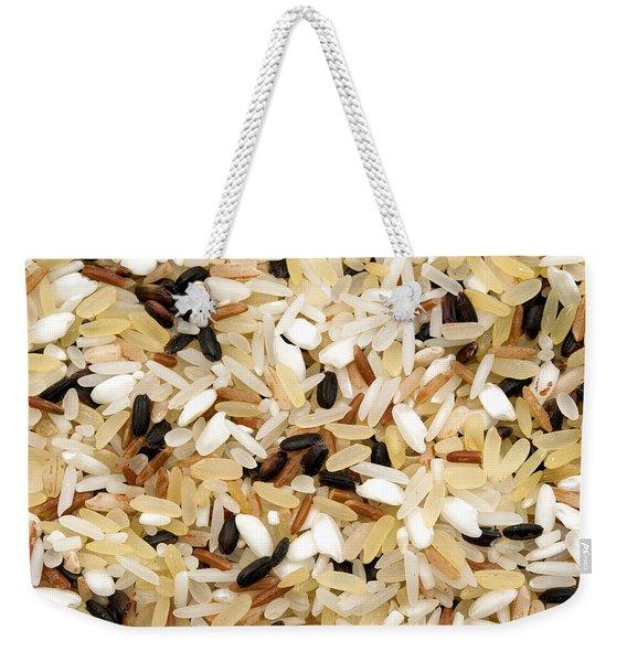 Mixed Rice Weekender Tote Bag