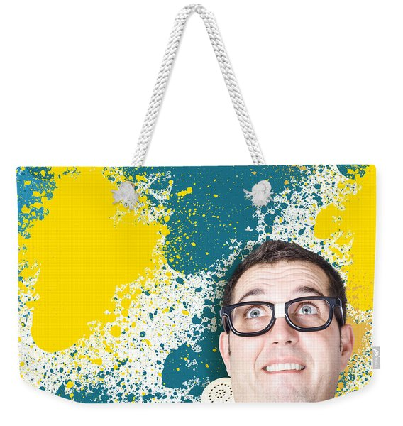 Mixed Up Graphic Designer Struggling With Client Weekender Tote Bag