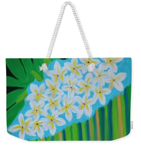 Mixed Up Plumaria Weekender Tote Bag