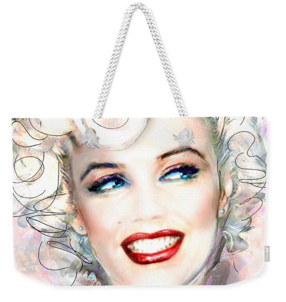 Mmother Of Pearl P Weekender Tote Bag