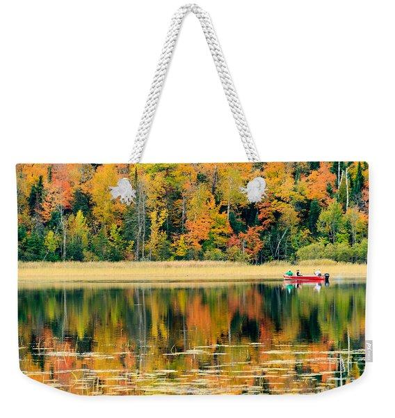 Mn Fall Fishing Weekender Tote Bag