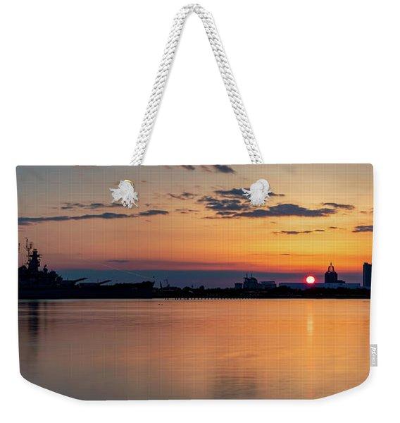 Mobile Bay Sunset Weekender Tote Bag