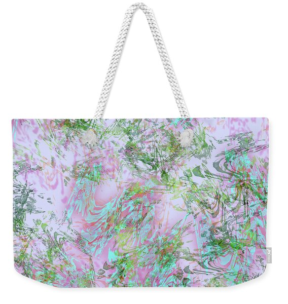 Mock Floral Purple Teal Weekender Tote Bag