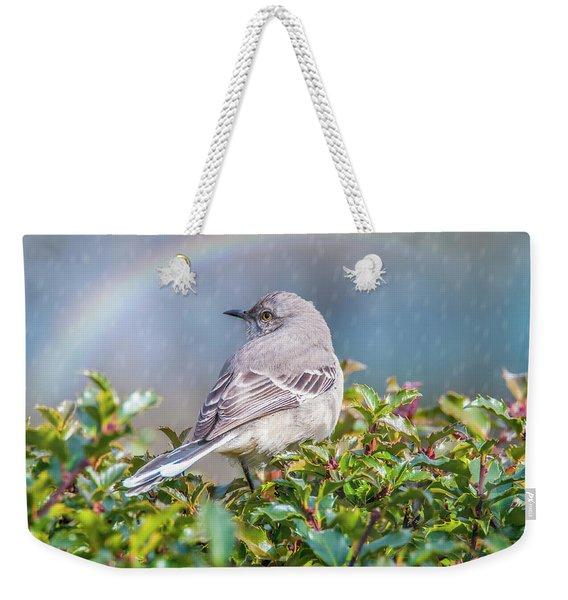 Mockingbird Rainbow Weekender Tote Bag