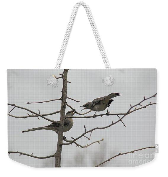 Mockingbirds Talk It Out Weekender Tote Bag