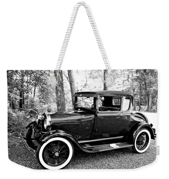 Model A In Black And White Weekender Tote Bag