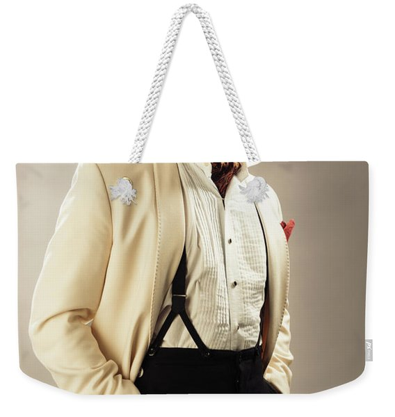 Model Playing Errol Flynn Character Weekender Tote Bag