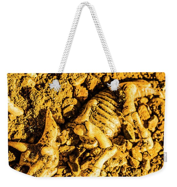 Modelling A Triceratops Fossilised Recovery Weekender Tote Bag