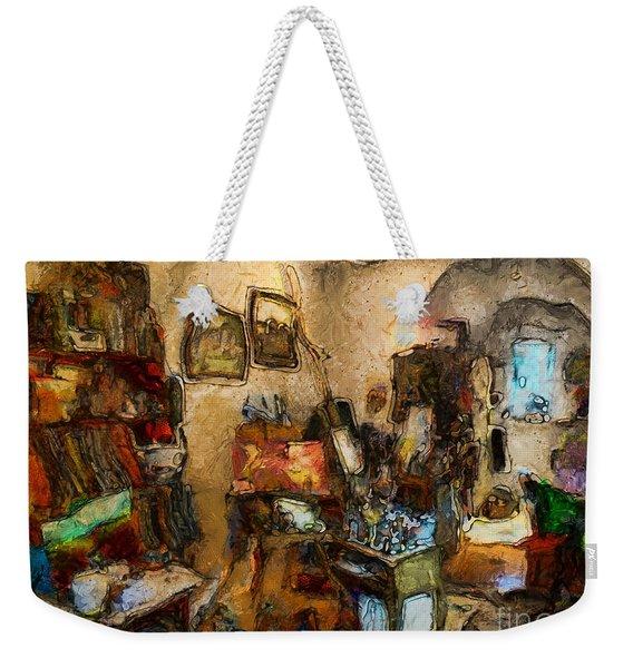 Modern Art Studio Weekender Tote Bag
