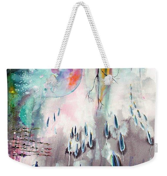 Modern Art Travel Log 04 Dec 8 2017 Weekender Tote Bag