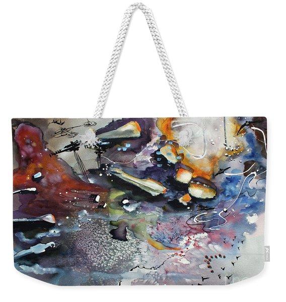 Modern Art Travel Log 03 Dec 7 2017 Weekender Tote Bag