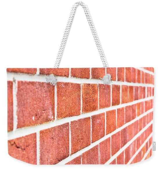 Modern Brick Wall Weekender Tote Bag