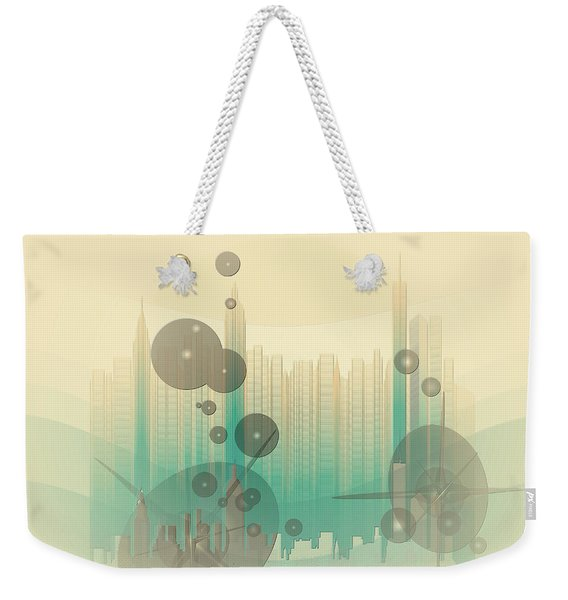 Modern City Abstract Weekender Tote Bag