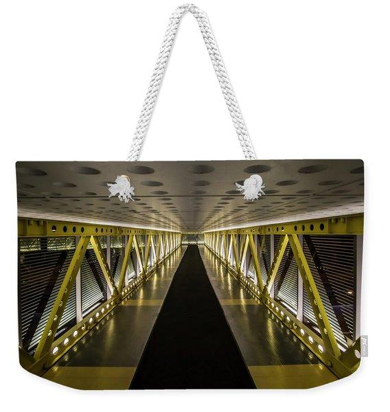 modern looking pedway in Chicago Weekender Tote Bag