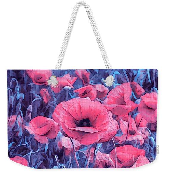 Modern Poppies Weekender Tote Bag