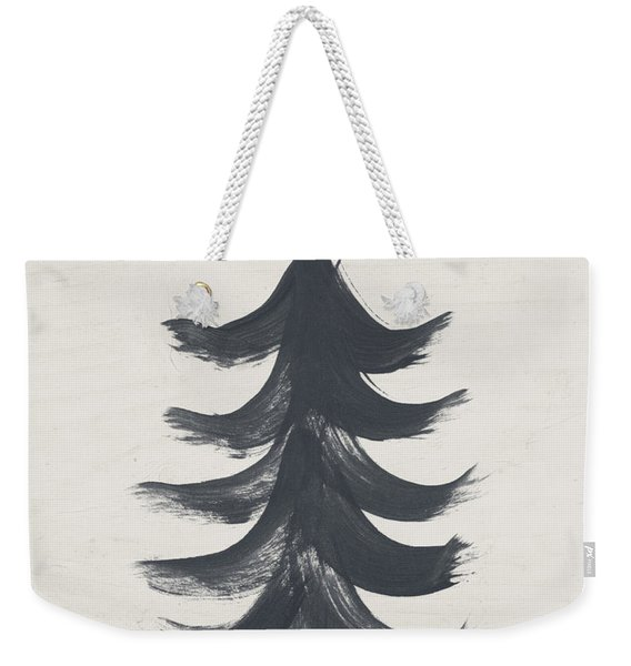 Modern Primitive Black And Gold Tree 1- Art By Linda Woods Weekender Tote Bag