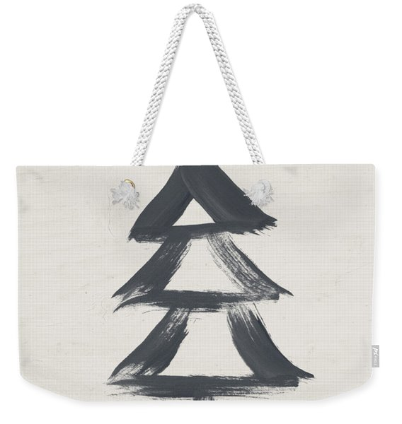 Modern Primitive Black And Gold Tree 2- Art By Linda Woods Weekender Tote Bag