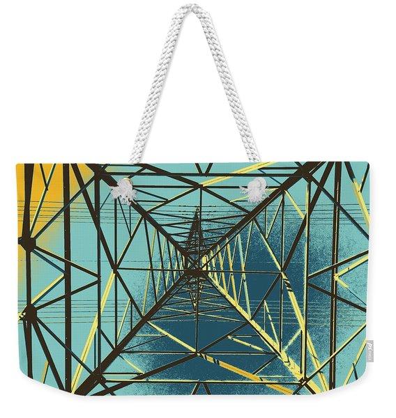 Modern Pyramid Weekender Tote Bag