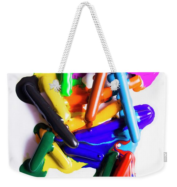 Modern Rainbow Art Weekender Tote Bag
