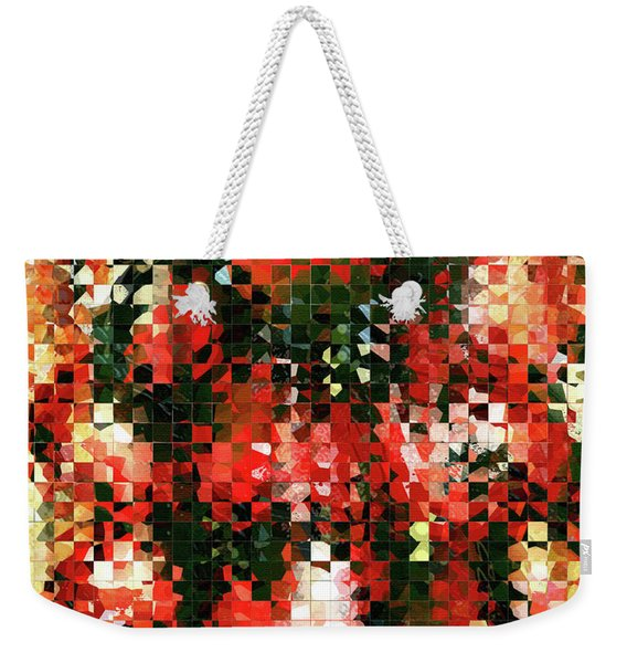 Modern Red Poppies - Pieces 4 - Sharon Cummings Weekender Tote Bag