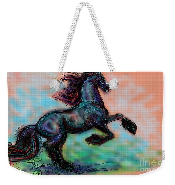 Modern Royal Friesian Weekender Tote Bag
