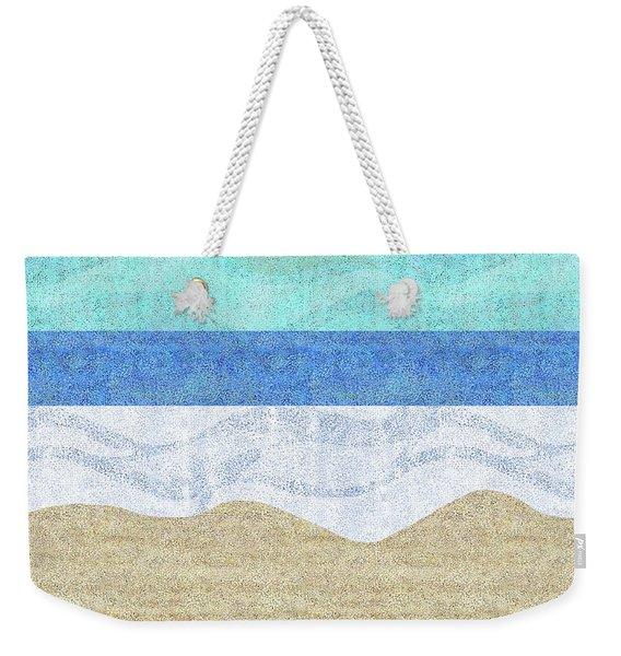Modern Sandy Beach Weekender Tote Bag