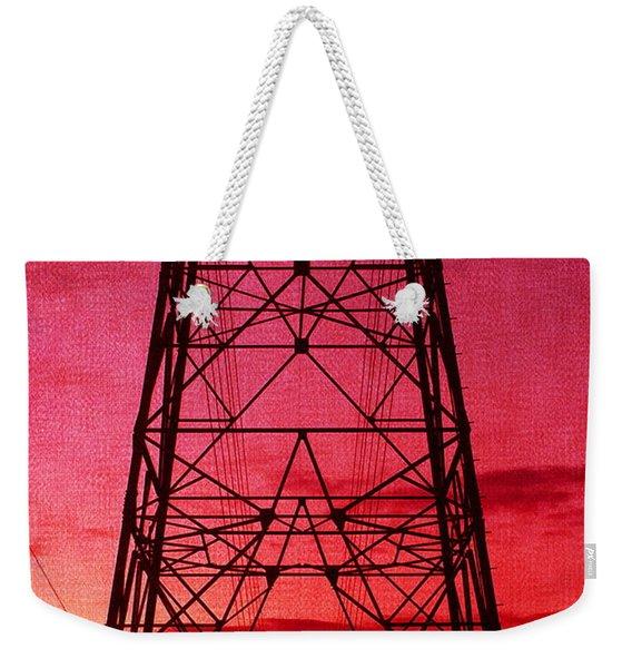 Modern Sunset Weekender Tote Bag