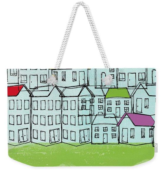 Modern Village Weekender Tote Bag
