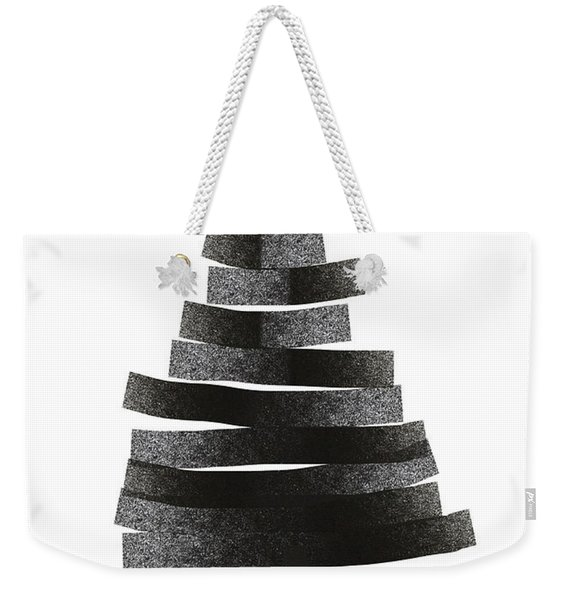 Modern Winter Tree- Season's Greetings Art By Linda Woods Weekender Tote Bag